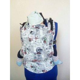 Эргономичный рюкзак с принтом Di Sling Велоспеды белый