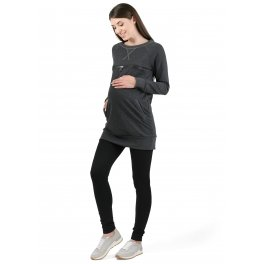 """Толстовка """"Спорт"""" для беременных и кормящих антрацит"""