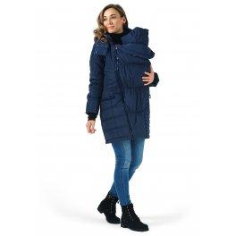 """Слингокуртка 3в1 куртка для беременных I love mum """"Мадейра""""  синяя"""