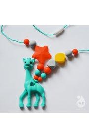 Силиконовые слингобусы с прорезывателем - Жираф