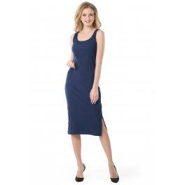 """Платье """"Кашкорсе"""" для беременных и кормящих, цвет т.синий"""