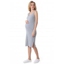 """Платье """"Кашкорсе"""" для беременных и кормящих, цвет серый меланж"""