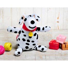 Вязаная игрушка Собачка Филя