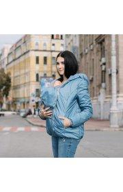 Демисезонная слингокуртка 3в1 Love & carry - Голубая