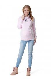 """Толстовка флисовая """"Райли"""" для беременных и кормящих нежно розовый"""