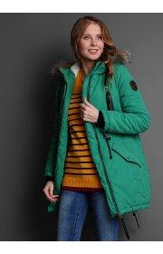 """Парка зимн. 3в1 """"Ньюкасл"""" слингокуртка для беременных зеленый"""