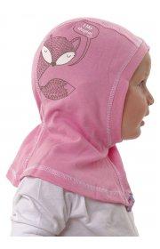 Шапка-шлем Лунтик розовая принт