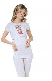 Комплект для дома для беременных и кормящих Дженис меланж
