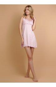 Сорочка Ливия розовая с розочками для беременных и кормящих