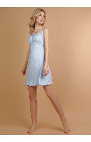 """Ночная сорочка """"Ливия"""" для беременных и кормящих цвет св.голубой"""