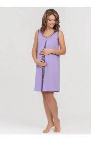 Ночная сорочка Nataly для беременных и кормящих фиолетовая 4904