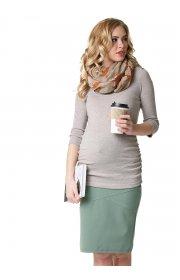 Лонгслив Эльмира для беременных и кормящих бежевый меланж