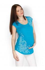 Футболка ФВ10 голубая для беременных