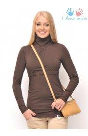 Водолазка Гламур коричневая для беременных и кормящих