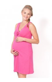 Ночная сорочка Калифорния розовая для беременных и кормящих