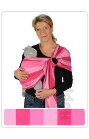 Слинг с кольцами -  Маями Miami HOPPEDIZ (розовый/светло-розовый)