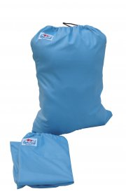 Сумка для хранения подгузников на завязках - Голубая
