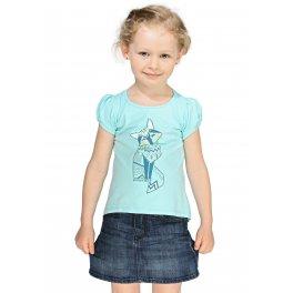 Футболка детская ФХ01 голубая с лисой