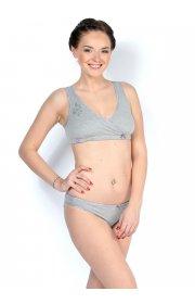 Комплект белья Бьюти серый для беременных и кормящих мам