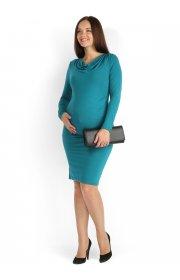 Платье Вилма т.изумруд для беременных и кормящих