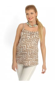 Майка МВ09 коричнево-белая для беременных и кормящих