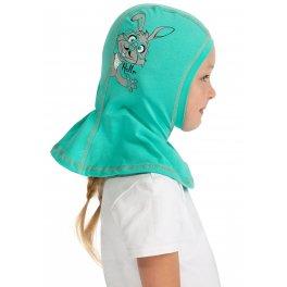Шапка шлем демисезонная I love mum  мятная