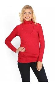 Водолазка Универсал красная для беременных и кормящих