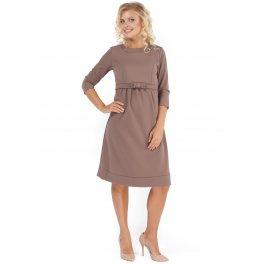 Платье для беременных и кормящих ПП09 бежевое