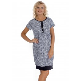 Платье домашнее ПХ08 меланж с пэйсли для беременных и кормящих