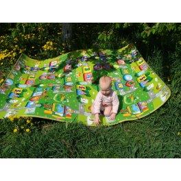 Детский двухсторонний коврик Солнечный день и цветные циферки