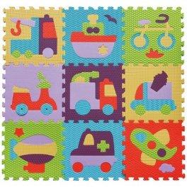 Детский коврик-пазл  - Быстрый транспорт