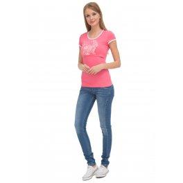 Футболка ФХ03  для кормящих, цвет: розовый