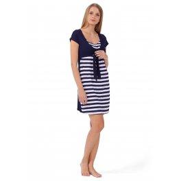 """Платье домашнее """"Релиз"""" синее для беременных и кормящих"""