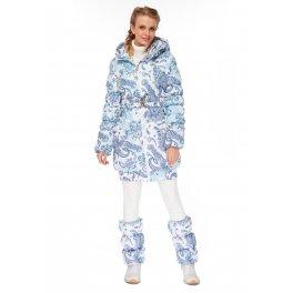 """Куртка 2в1 зимн. """"Юта"""" пэйсли на белом для беременных"""