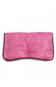 Муфта для рук на коляску розовая