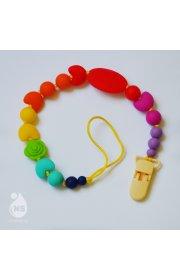 Силиконовый держатель для пустышки или игрушки - Мультифрукт