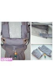 """Комплект накладок для эрго-рюкзака """"лицом к миру"""" - накладки и нагрудник + подарок"""