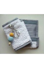 """Накладки на лямки рюкзака """"Люкс""""-НЕО белые/серый + подарок"""