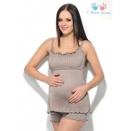 Комплект для сна Мия бежевый для беременных и кормящих