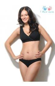 Комплект белья Бьюти черный для беременных и кормящих мам