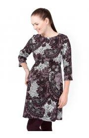 Платье Софи кружево бордо для беременных и кормящих