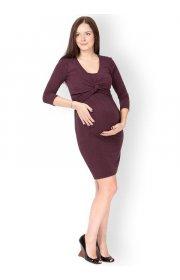 Платье Фэнси бургунди для беременных и кормящих