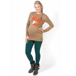 Леггинсы теплые Стиль зеленые для беременных