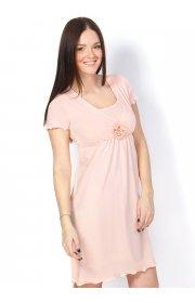 Ночная сорочка Флорида персик для беременных и кормящих(и в роддом)