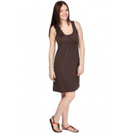 Платье ПВ02 коричневое для беременных и кормящих
