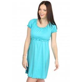 Ночная сорочка НВ01 бирюзовая для беременных и кормящих
