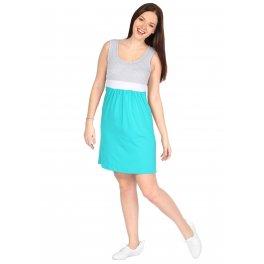 Платье Триколор изумрудное для беременных и кормящих
