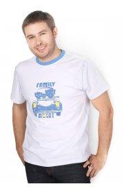Футболка мужская белая/Family