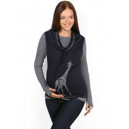 Туника-двойка Модная мама т.синий для беременных и кормящих