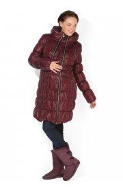 """Куртка 2в1 зимн. """"Валенсия"""" бордовая для беременных"""